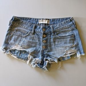 Abercrombie & Fitch distressed cut off jean shorts
